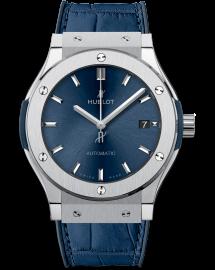 Hublot Classic Fusion Watch Blue Titanium CALL US: 312-944.3100