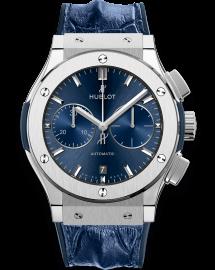 Hublot Classic Fusion Watch Blue Chronograph Titanium CALL US: 312-944.3100