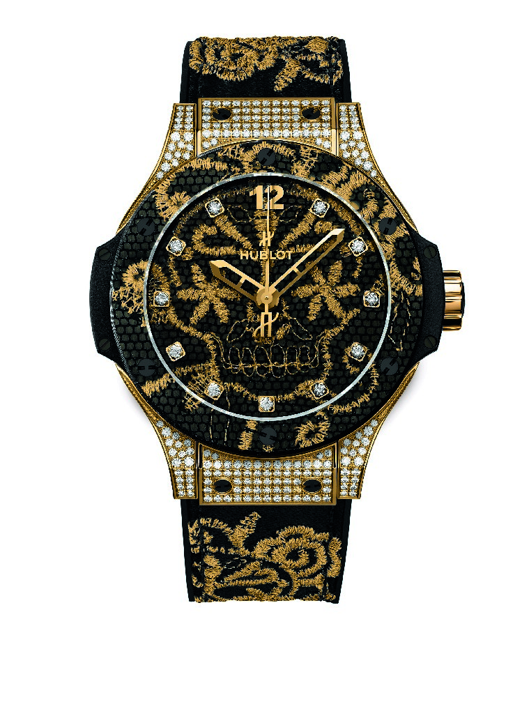 Hublot Big Bang Broderie watch Gold.