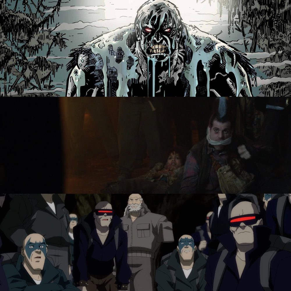 """Although very brief, Alfred does mention that the name of the gang they encountered were called """"The Mutants"""" and we do eventually hear them yelling out """"Solomon...Grundy"""" to each other. Interesting."""