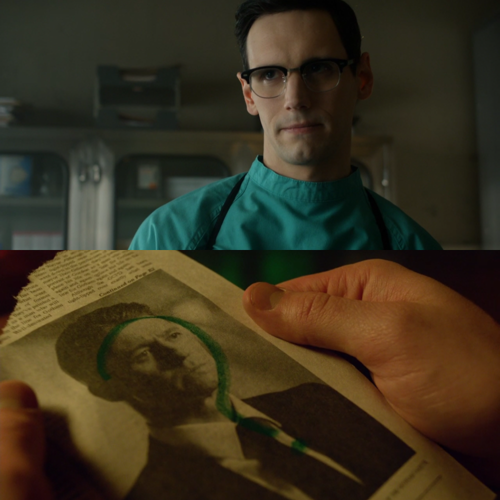 Something that unfortunately got overshadowed in this episode is our first big tease of the Riddler in action. I cannot wait to see what surprises are ahead with Enigma's character.