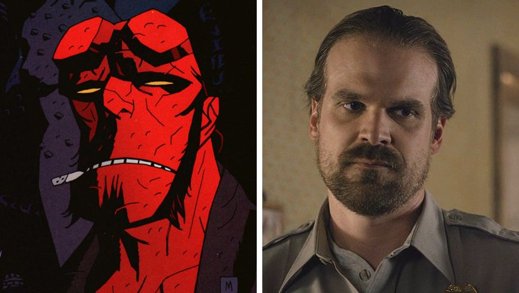 Monday night, Hellboy creator Mike Mignola anounced on his Facebook page that an R-rated reboot film is in the works - To be directed by Neil Marshall (The Descent), with David Harbour (Stranger Things) set to star as the title character. The Hollywood Reporter then confirmed the news.