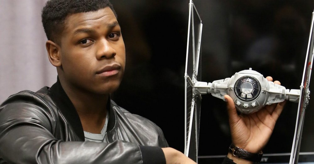 John Boyega has shared a look at Finn's new blaster in the upcoming Star Wars: The Last Jedi. - A video of the new blaster was posted on Boyega's official Instagram, and shows what is presumably Boyega himself pulling the trigger on the prototype weapon.