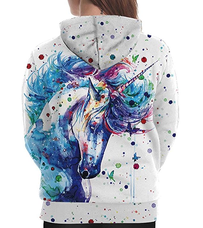 13. Realistic 3D Digital Printing Pullover Hoodie - $26.99