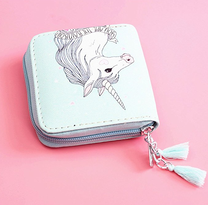 23. Timlee Cute Rainbow Unicorn Wallet - $12.99