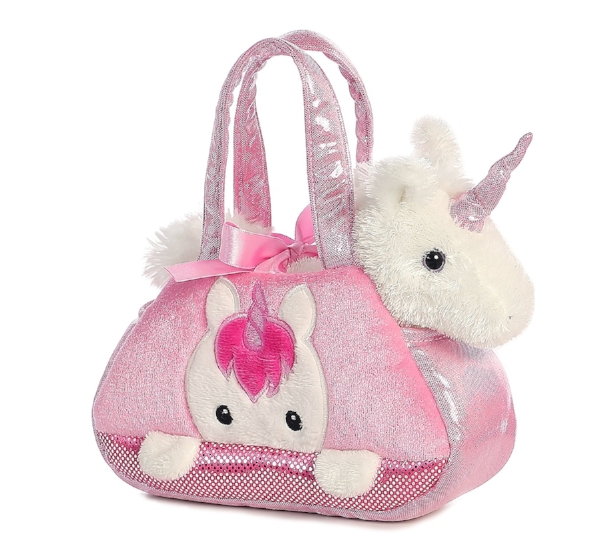 8. Aurora World Fancy Pals Pet Carrier, Peek-A-Boo Unicorn - 13.80