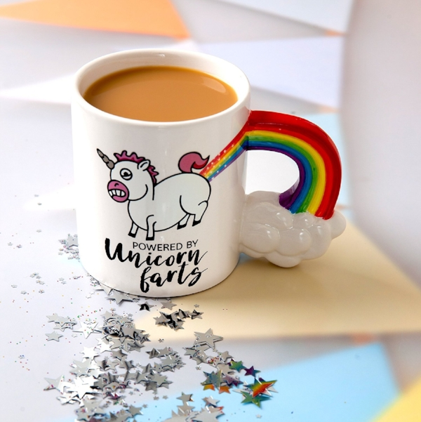10. BigMouth Inc Unicorn Farts Mug - $9.99