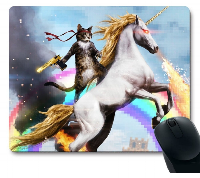 20. Rambo Cat Unicorn Mouse Pad - $6.99