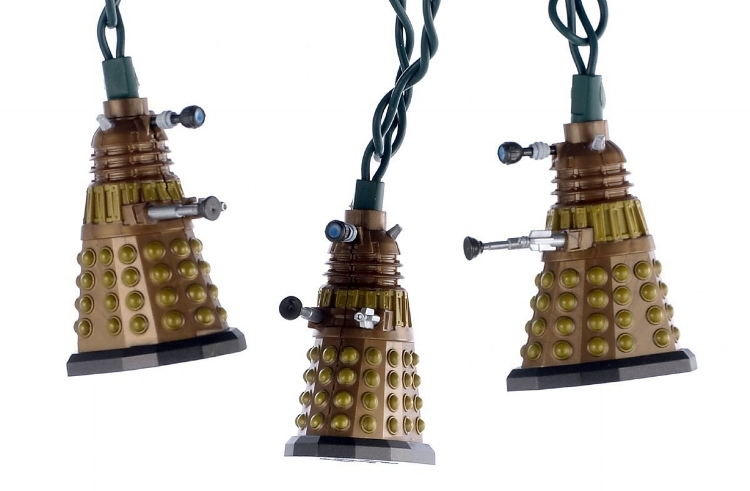 14. 10-Light Doctor Who Bronze Dalek Light Set - $26.42