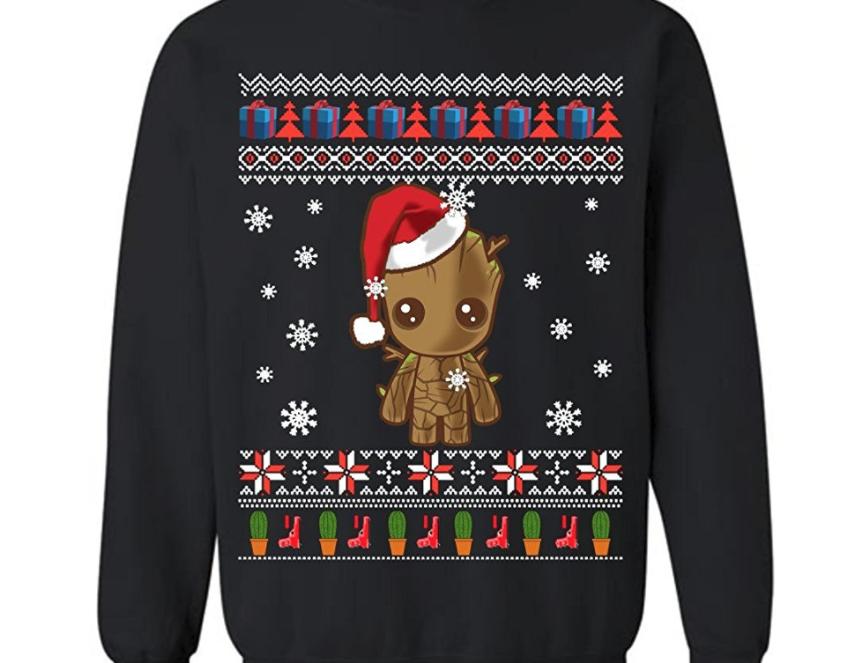3. Groot Merry Christmas Sweatshirt - $27.95