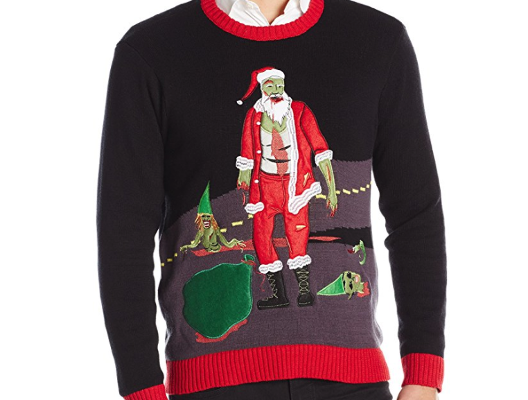5. Walking Dead Santa Ugly Christmas Sweater - $29.99