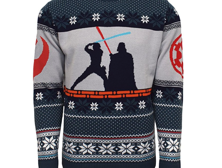 12. Star Wars Luke vs Darth Christmas Jumper - $49.99
