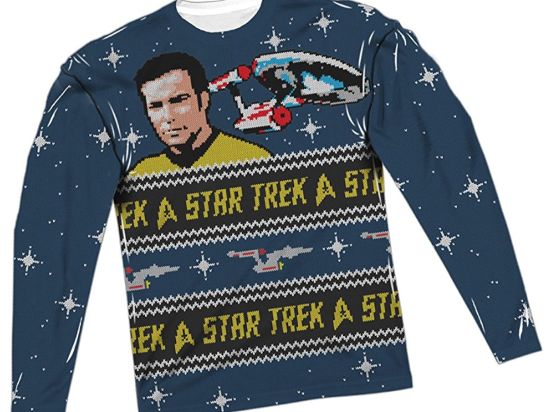 17. Star Trek Ugly Christmas Sweater - $47.95