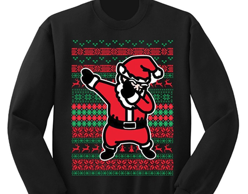 19. Dabbing Santa Ugly Christmas Sweater - $27.99