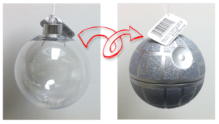 (Easier) DIY Custom Death Star Ornament