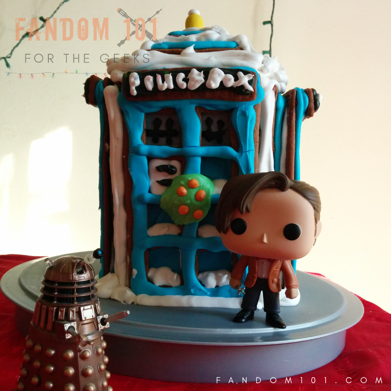 Doctor Who TARDIS Gingerbread House Eleven