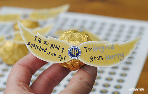 Harry Potter Golden Snitch Edible Valentines
