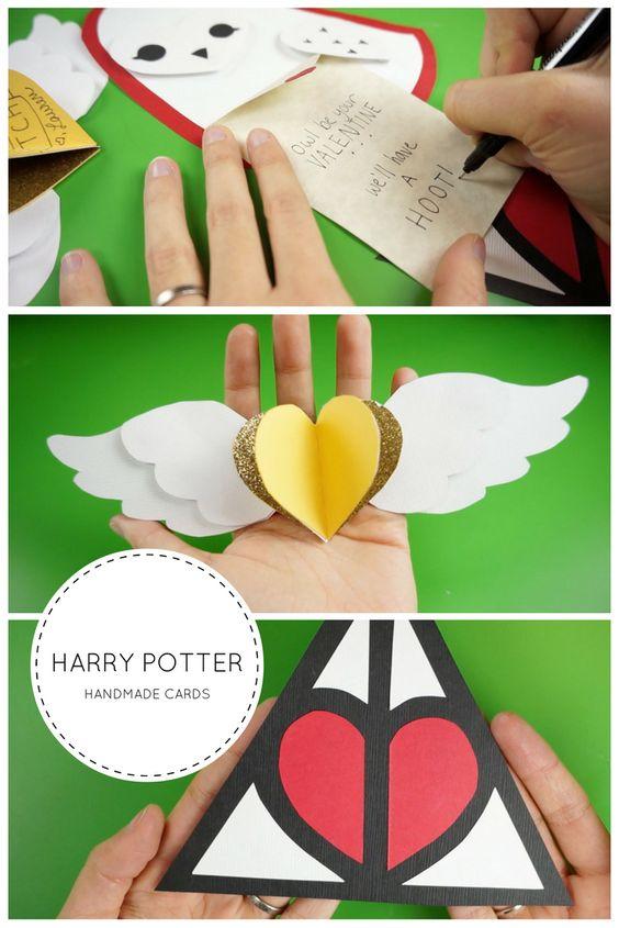 Handmade Harry Potter Valentine Cards