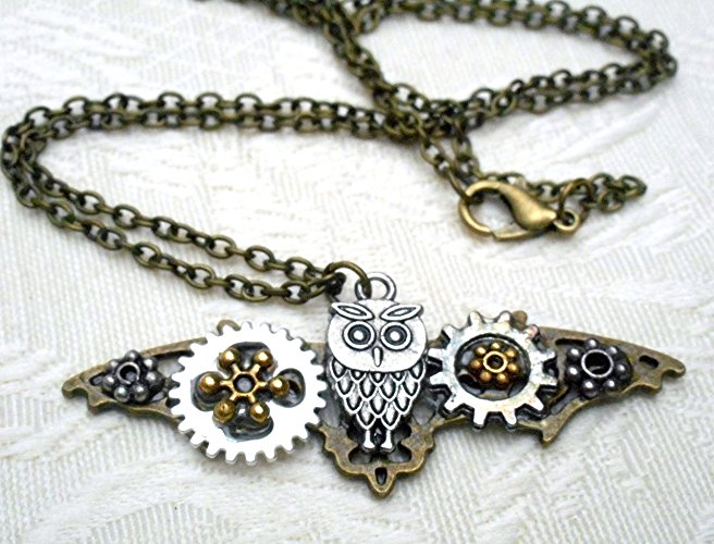 $39.99 | Harry Potter Steampunk Hedwig Necklace