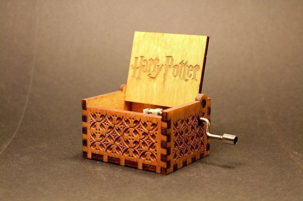 Hedwig Theme Harry Potter Hand Engraved Wooden Music Box