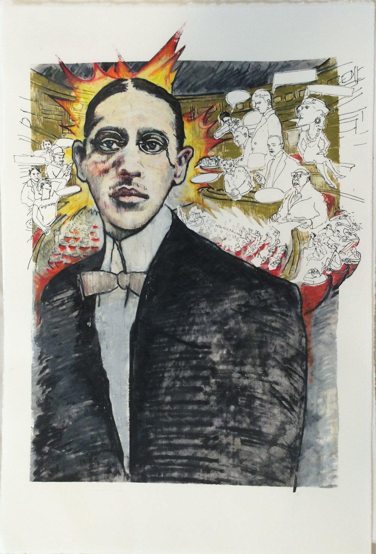 "Igor Stravinsky, ""  Le sacre duprintemps""   2015,  22 x 15 in, (56 x 38cm)"