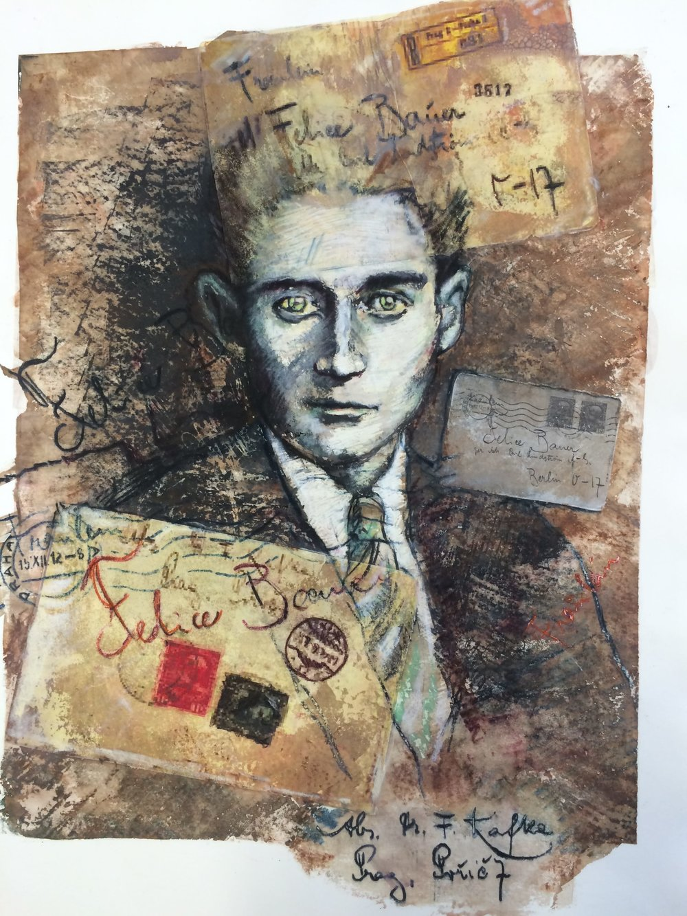 Franz Kafka   screen monoprint, Siebdruck  22 x 15 in, (56 x 38cm)