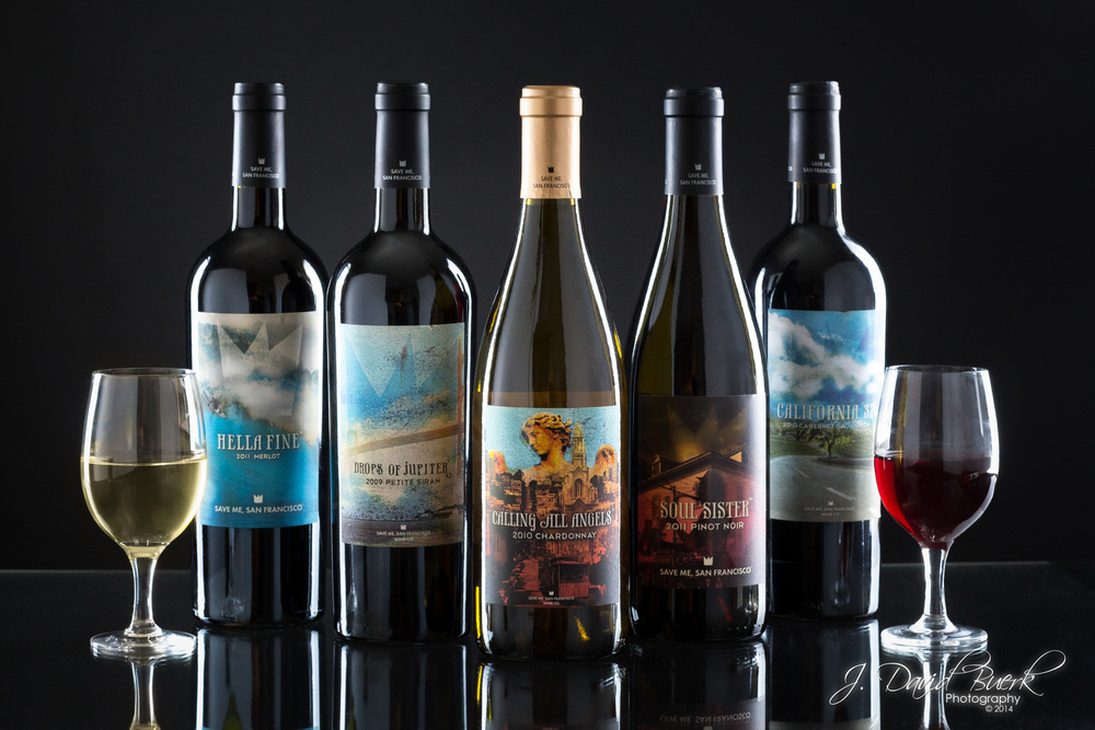 "Various ""Train"" wines from the Save Me, San Francisco Wine Company."