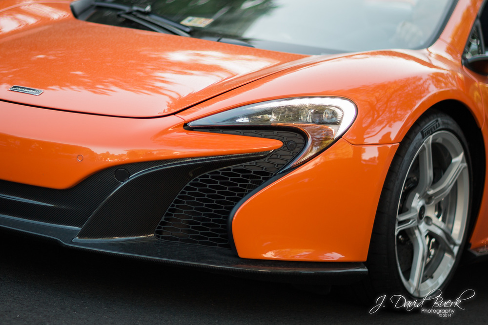 A McLaren 650S Coupe at Katie's Cars and Coffee on Memorial Day Weekend.