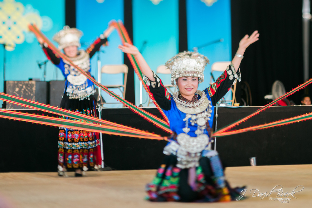 A traditional Chinese folk dance performed at 2014's Smithsonian Folklife Festival.  The festival also featured the culture of Kenya.