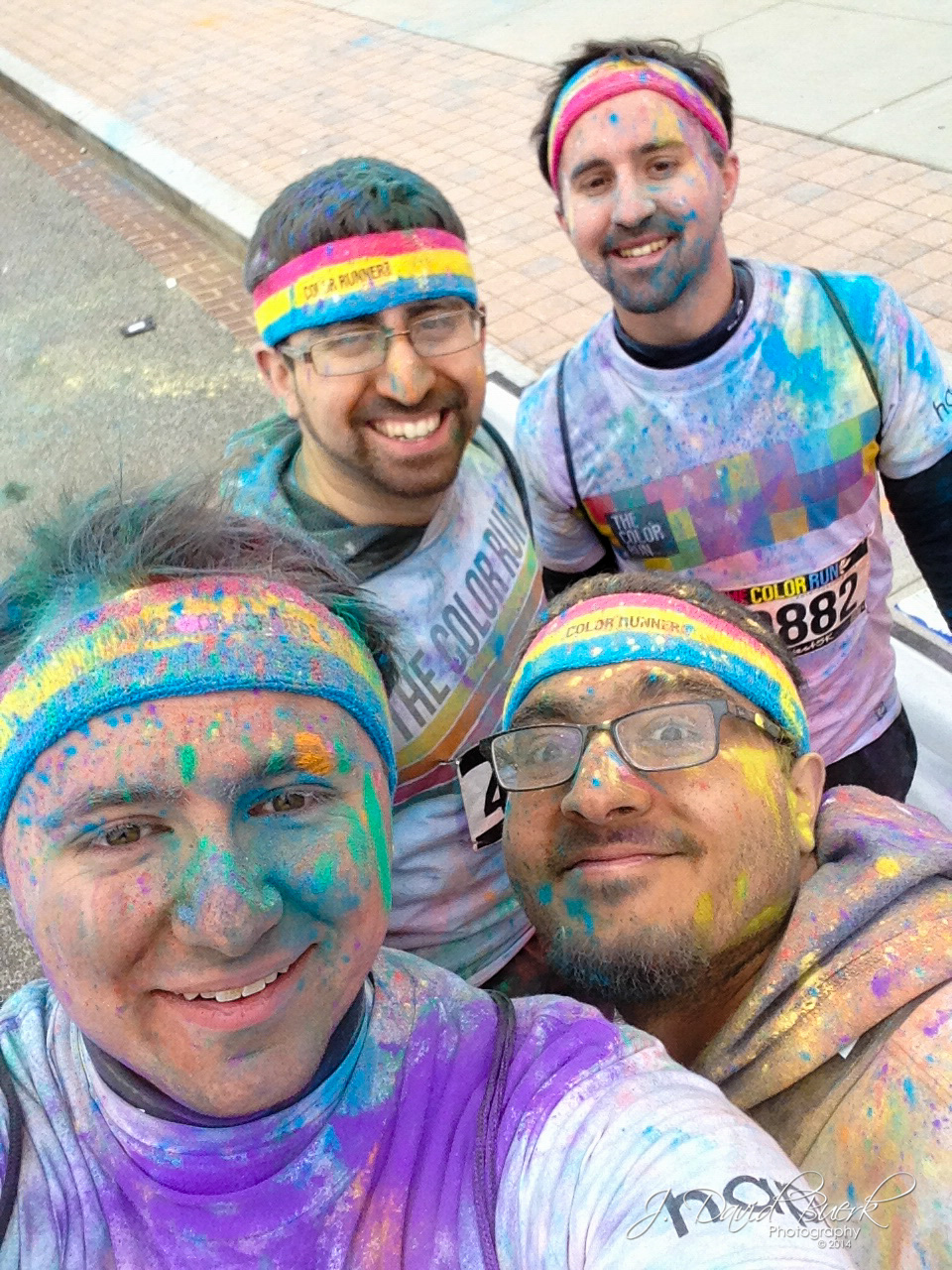 """Selfie"" was 2014's Word of the Year; here I am taking a selfie with close friends at Washington, DC's Color Run at Nationals Park."