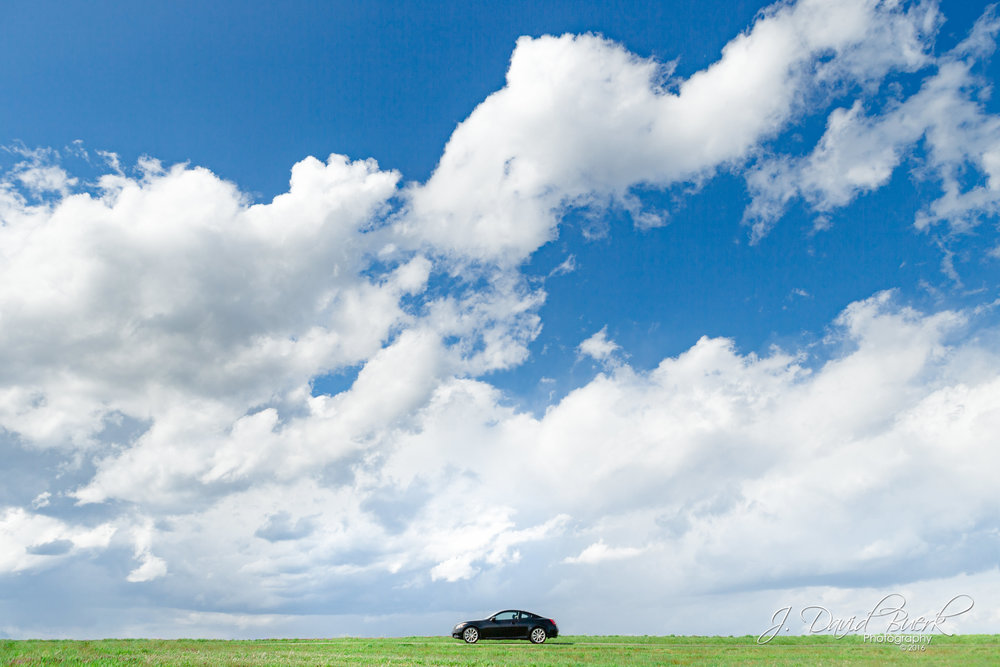 My own Infiniti G37S 6MT photographed in Frederick, Maryland on a day and place reminiscent of the iconic Windows XP background, Bliss by Charles O'Rear.