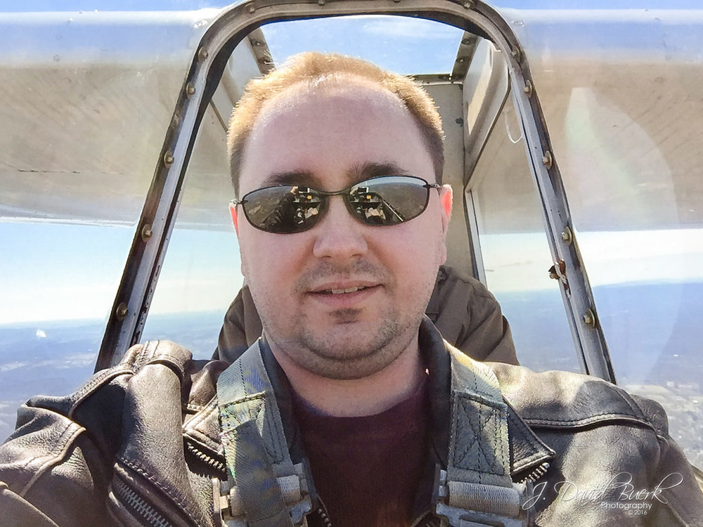 A selfie inside a glider soaring around 2,500ft.  A maximum altitude of 3,500 was reached on this flight using thermal for lift.