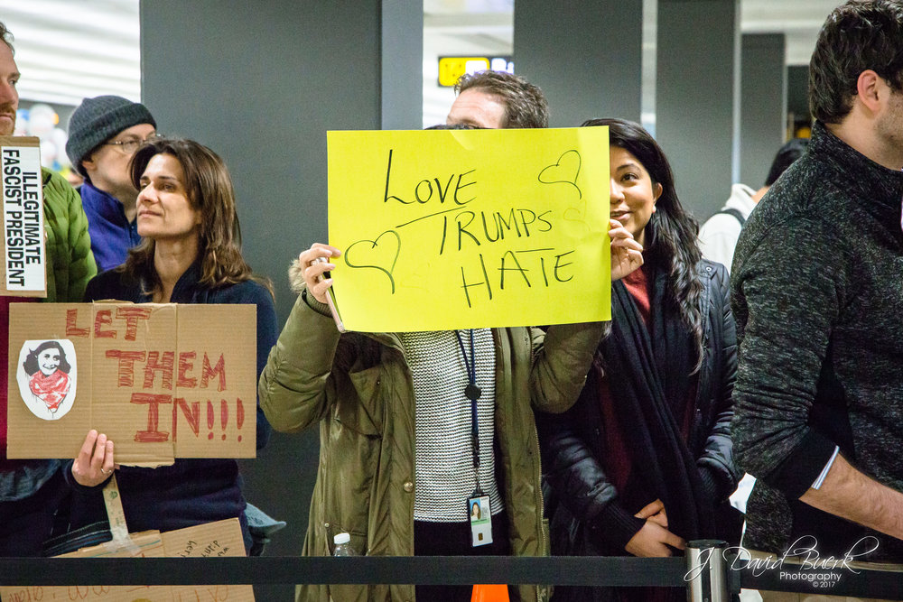 """Love Trumps Hate"" is a play on words that has been used as a rallying cry and hashtag in opposition to President Trump since almost the beginning of his presidential campaign in 2016."