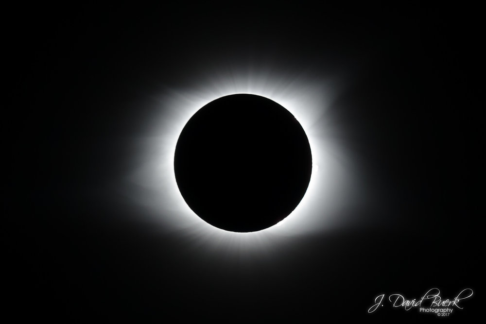 Totality of the 2017 solar eclipse as seen from Niotta, Tennessee.