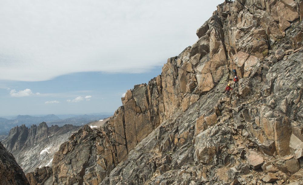Cat's team on a traverse
