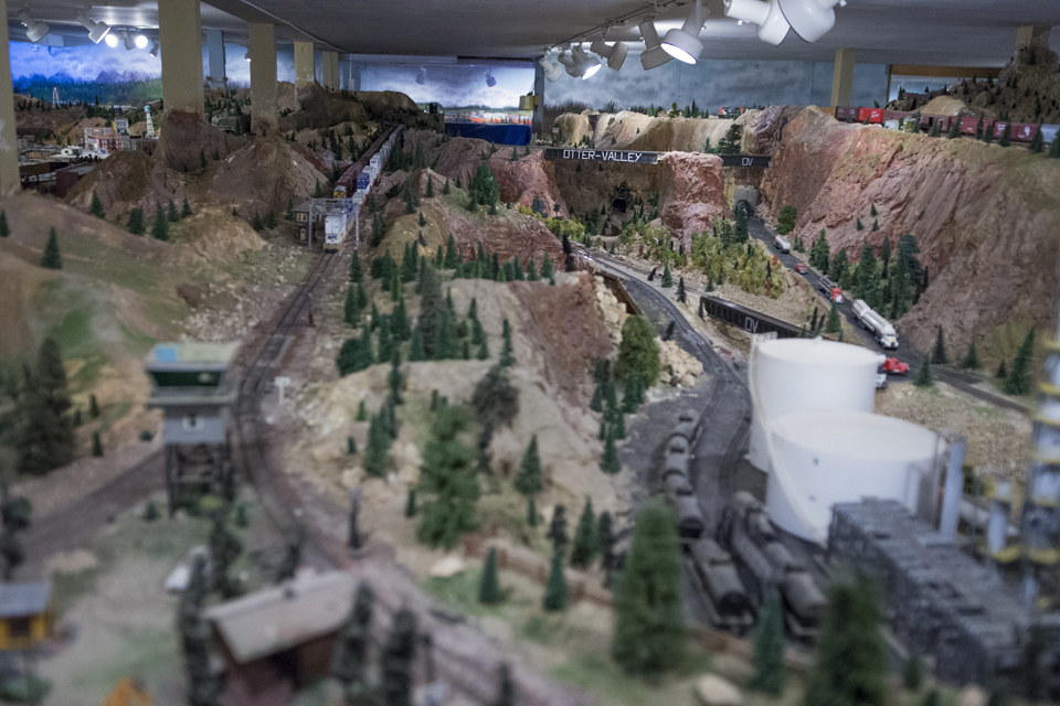 Model train exhibit in Sibley