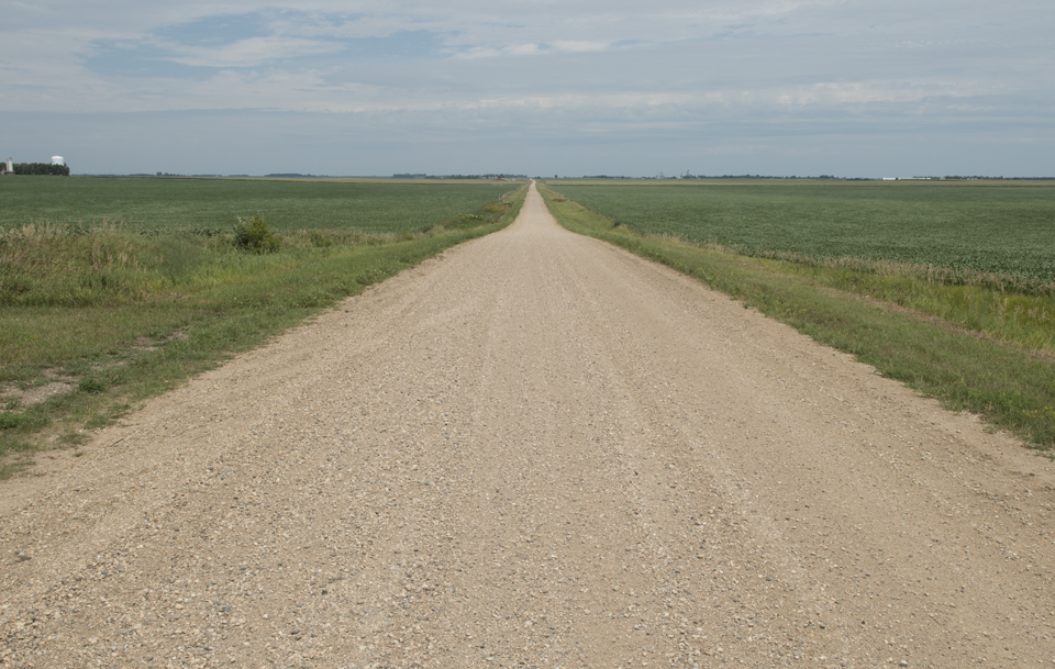 When their is no geographic features, the roads become impossibly straight