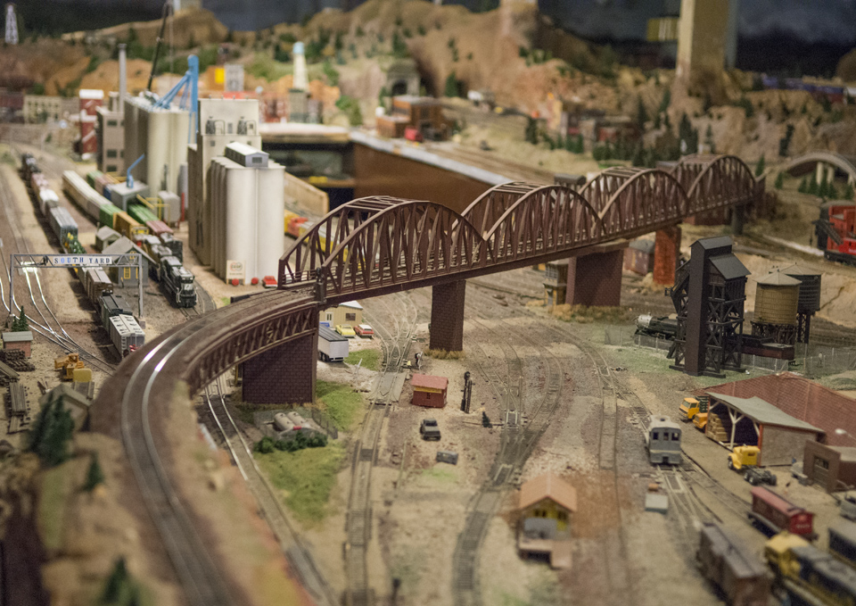 A small fraction of the model train display at the county fair grounds.