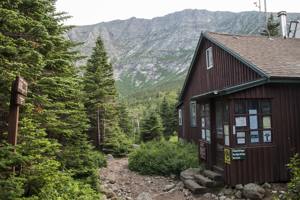 Ranger Station at Chimney Pond campground