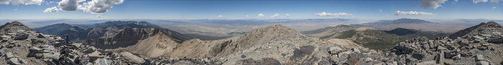 360 view from the summit of Wheeler Peak