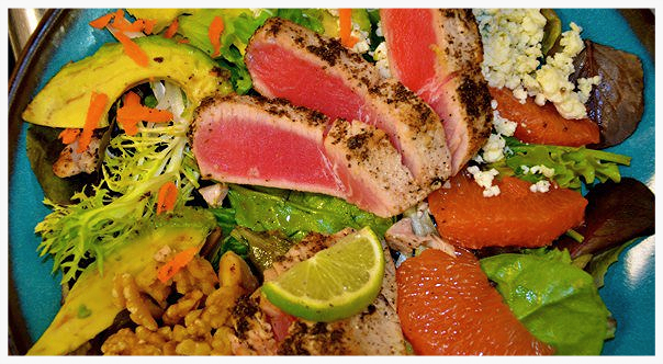 Grilled Yellowfin Tuna Salad