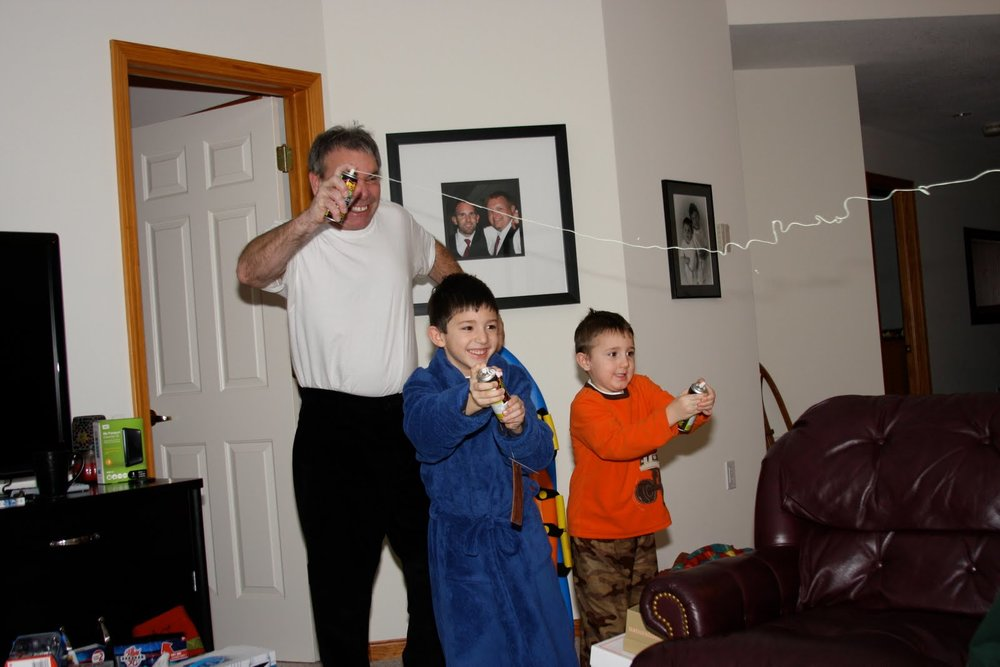 Dad, Cole, Peyton Silly String.jpg