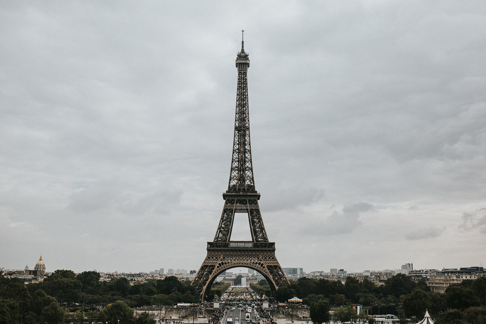 Paris France destination elopement wedding photographer Calgary Alberta Eiffel Tower