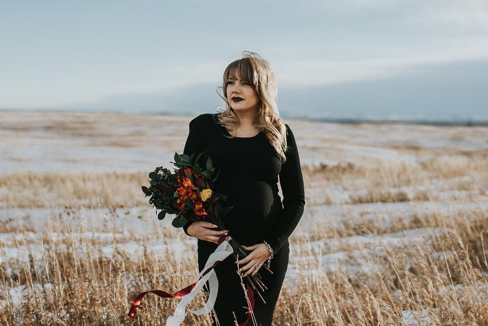 Calgary maternity photographer - Nose Hill Park Fall Maternity Session