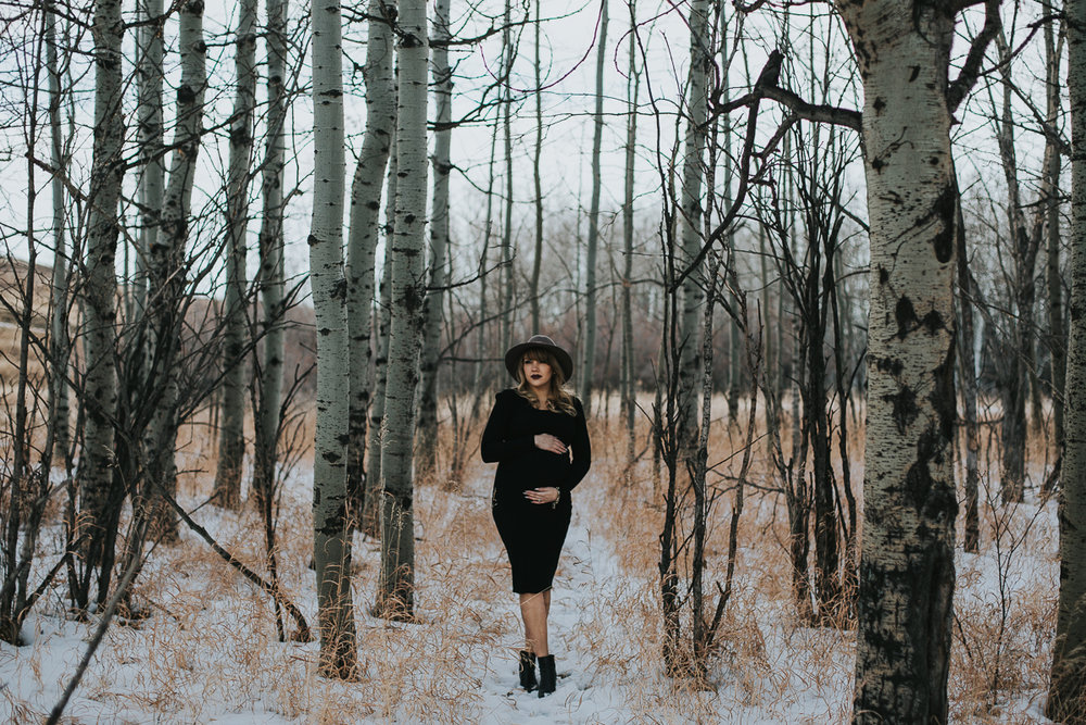 Calgary maternity photographer - Nose Hill Park Fall Maternity Session