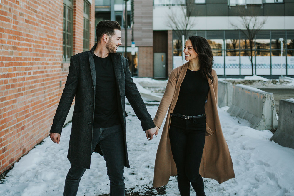Winter engagement session in Calgary, Alberta