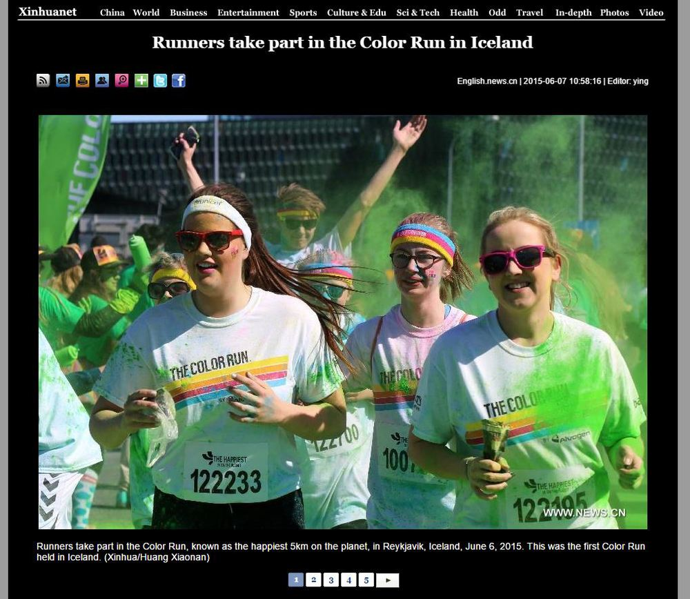 xinhuanet Runners take part in The Color Run in Iceland.JPG