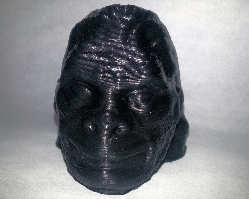 Makergear Gorilla Head  Makergear M2 - 0.2mm layers - Black PLA