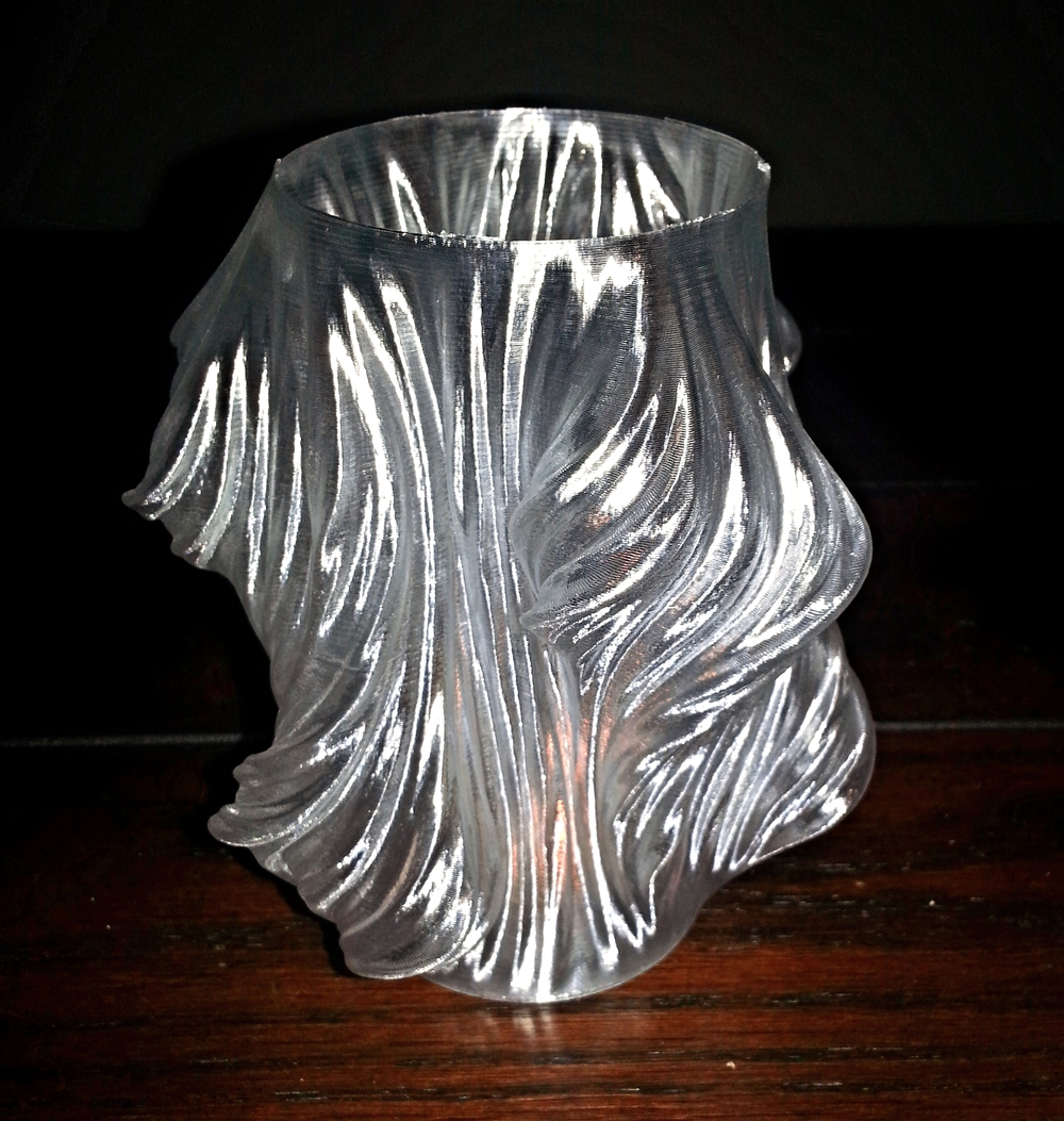 Vase/Candle Holder    Makergear M2 - 0.25mm layers - Clear T-Glase (High Strength PETT)
