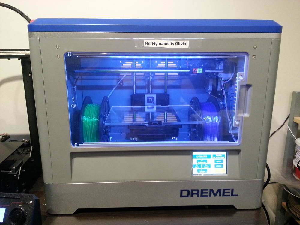 Dremel3D Idea Builder Max Print Volume: 230 mm x 150 mm x 140 m (9 in x 6 in x 5.5 in) Min Layer Height = 0.1mm